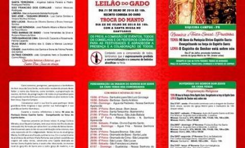 87ª FESTA DO SENHOR BOM JESUS DA CANA VERDE SIQUERA CAMPOS - PR