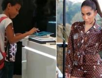 Anitta ajuda menino que viralizou estudando em tablet em shopping no recife