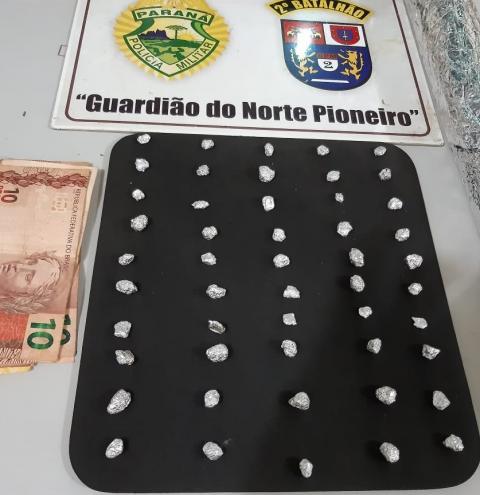 PM do Norte Pioneiro prende pessoas relacionadas à tráfico de drogas