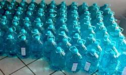 Secretaria da Justiça repassa mais 2,5 mil litros de álcool a entidades