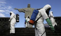 Cristo Redentor passa por desinfecção antes da reabertura no sábado
