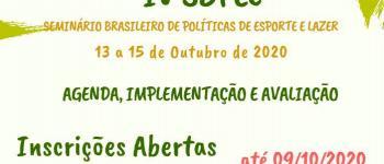 Seminário de políticas públicas do esporte acontecerá em outubro