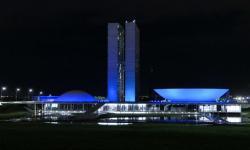 Iluminação azul do Congresso será estendida até domingo pela prevenção do diabetes