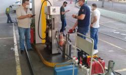 Ação conjunta fiscaliza postos de combustível no Interior