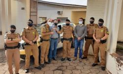 Germano entrega viatura Duster para Polícia Militar de Siqueira Campos