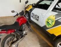 Em Santo Antônio da Platina:  indivíduo é detido após furtar moto