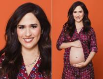 Tatá Werneck posa com barriga de grávida à mostra para ensaio
