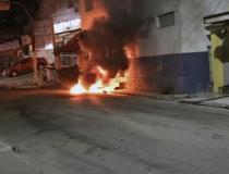 Caramujo: posto da PM é incendiado