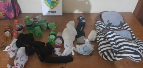 PM aborda indivíduo com cocaína em Pinhalão