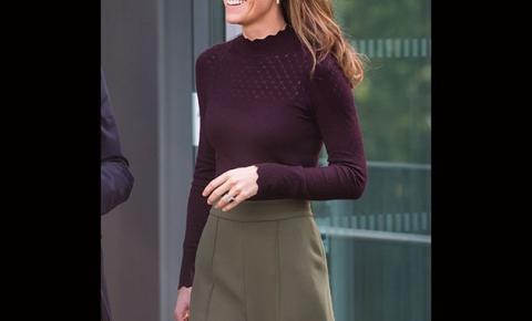 Em dia de folga, Kate Middleton arrasa no look