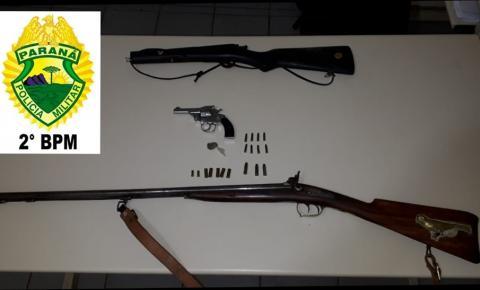 Polícia apreende drogas e armas em Siqueira Campos