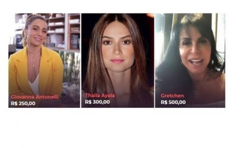 Giovanna Antonelli, Thaila Ayala, Gretchen e outros nomes cobram até R$ 500 por vídeos para fãs; entenda
