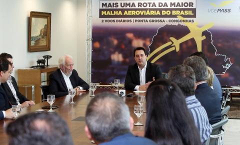 Ponta Grossa terá voos diários diretos para Congonhas