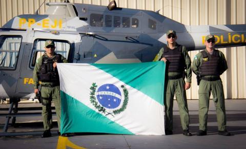 PMPR envia helicóptero para apoiar operação no Nordeste