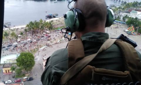 Polícia Civil utiliza helicóptero no pré-carnaval no Litoral