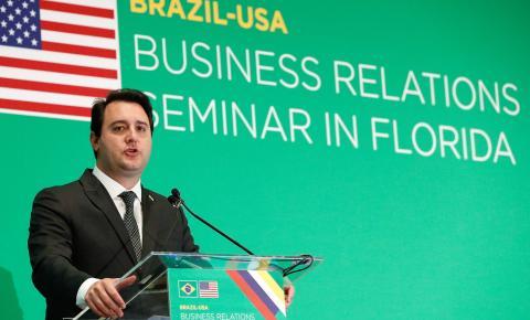 Nos EUA, governador fala sobre oportunidades do Paraná
