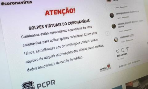 Polícia alerta população sobre golpes virtuais durante a pandemia