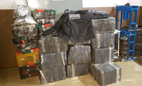 Polícia apreende 1,8 tonelada de maconha em Foz do Iguaçu