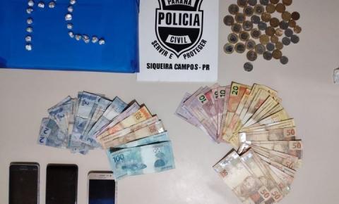 Polícia Civil prende dois suspeitos de tráfico de drogas em Siqueira Campos