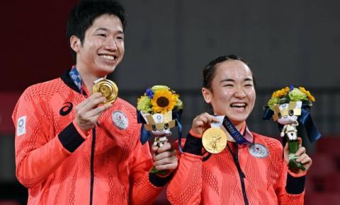 Japão surpreende a China nas duplas mistas de tênis de mesa e leva primeiro título olímpico