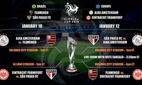 São Paulo e Flamengo enfrentarão Ajax e Eintracht Frankfurt na Copa Flórida