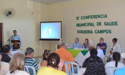 DEMOCRACIA E SAÚDE - 12º  Conferência Municipal de Saúde  de Siqueira Campos