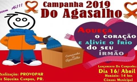 """Começa amanhã a """"Campanha do Agasalho 2019"""" em Siqueira Campos"""