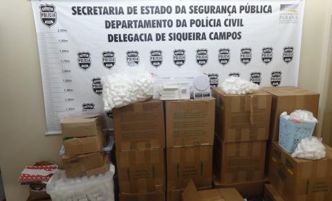 Em operação conjunta Polícia Civil de Siqueira Campos apreende substâncias que possivelmente teriam anfetaminas em sua composição