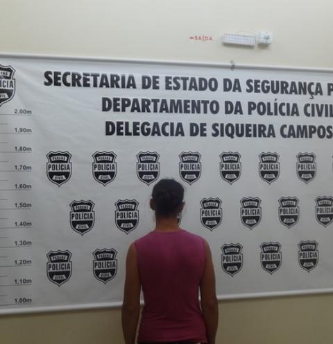 Polícia Civil prende mulher por furto em Siqueira Campos